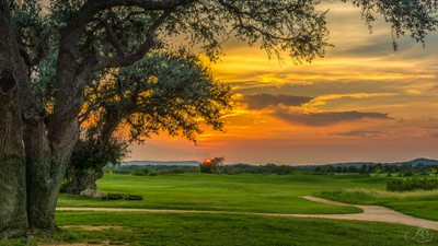 Sunset on the golf course