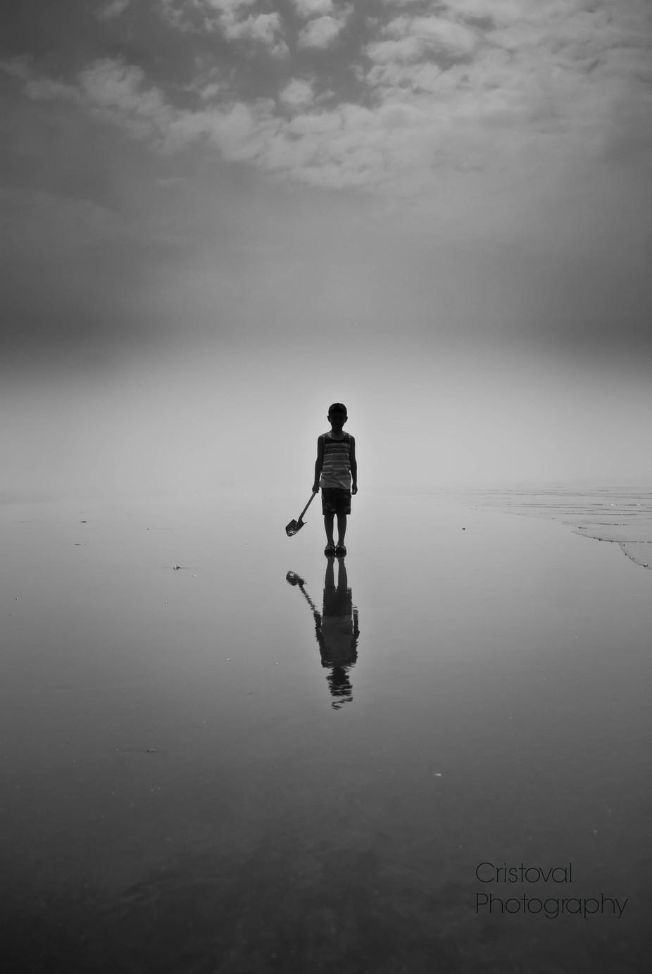No sand castle :-( by Cristoval - Children In Nature Photo Contest