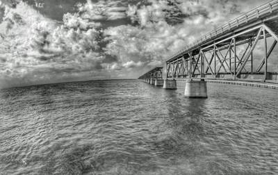 Bahia Honda Bridge in Black and White