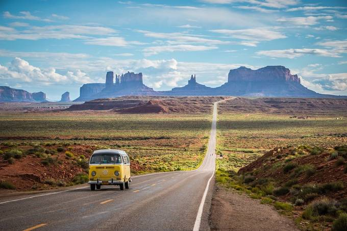 Classical Monument Valley by NielsFahrenkrogPhoto - My Favorite Car Photo Contest