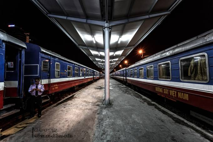 Railway Station Hanoi by Joerg - Composing with Diagonals Photo Contest