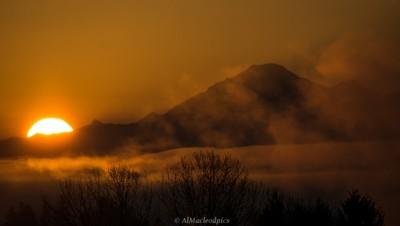 Mt Baker Wash - Sunrise Nov 30 - as shot