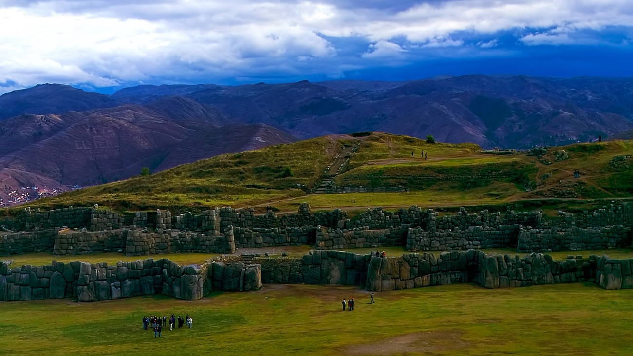 The Fortress at Sacsayhuaman, near Cuzco, Peru. Digitally scanned from my original slide, photographed in 1999.