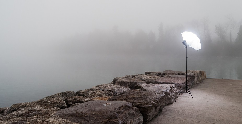 Melissa and I met a the End of Dock road on a cold and foggy morning. We tried too create a contr...