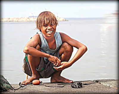 A Little Fisherman in Manila Bay