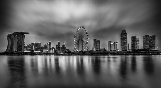 The Wheel is the center of the city by GkCM - Black And White Wow Factor Photo Contest