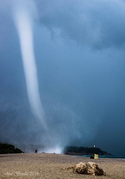 A marine tornado
