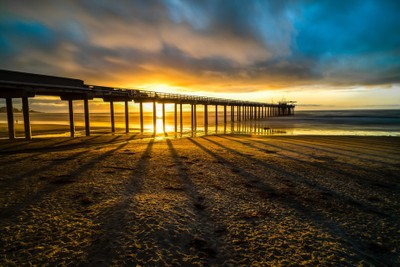 Sunset at the Scripps Pier