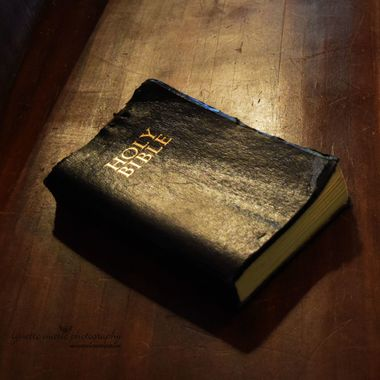 bible in morning light
