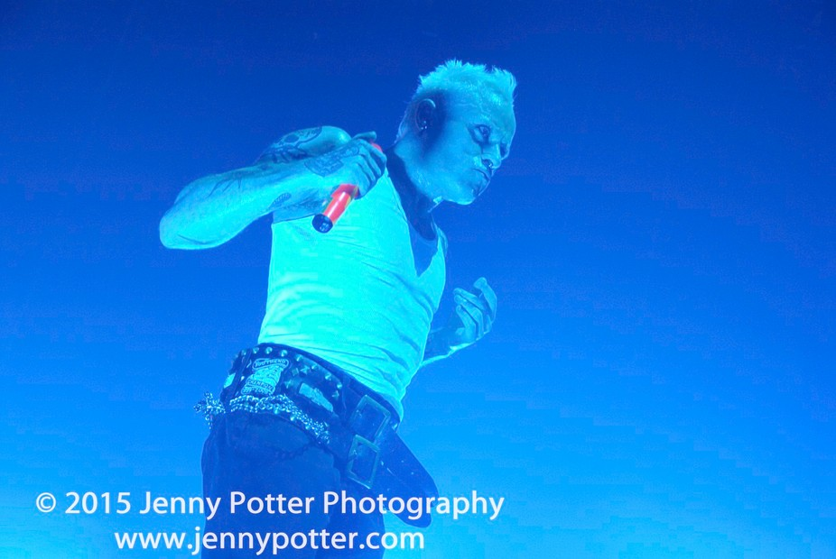 The Prodigy, Keith Flint photographed by Jenny Potter.