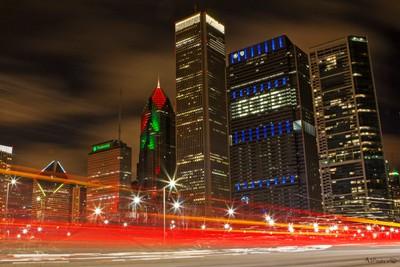 Light trail - Chicago