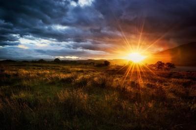 Last sun rays
