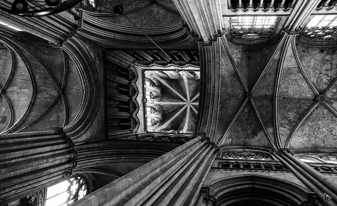 top of the church by amazed - Black And White Wow Factor Photo Contest