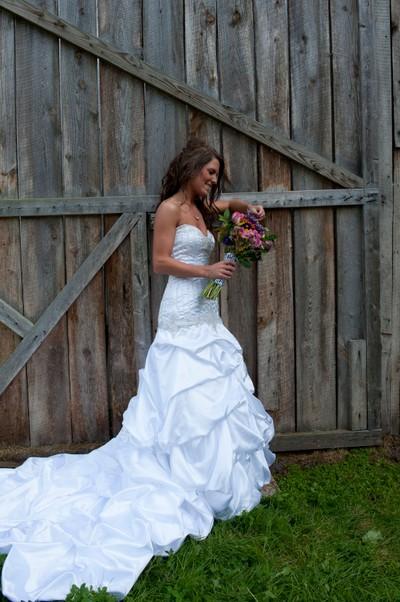 Bride at barn