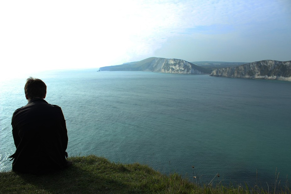Taken in the south of Dorset after climbing a gigantic hill!