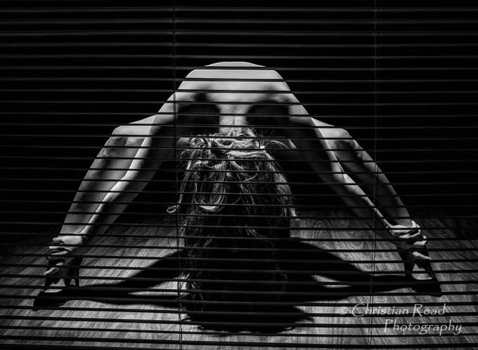 Through the Blinds by Christian-Read - People In Black And White Photo Contest