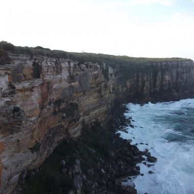 This is my favourite relaxation point - Fairfax Walking Track at Sydney Harbour National Park, The Easterly winds blow strong here so it's always cold. This photo was taken on a day where the ocean had a big swell.
