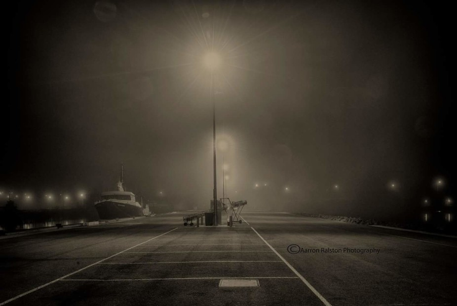 The midnight fog comes in thick and fast blanketing everything in its path