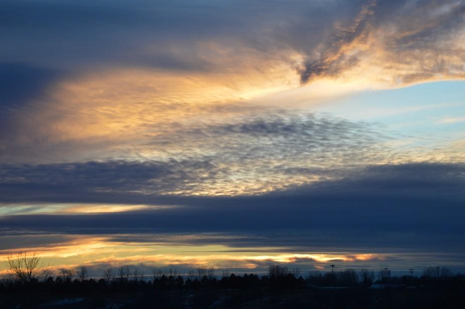 December Evening Clouds