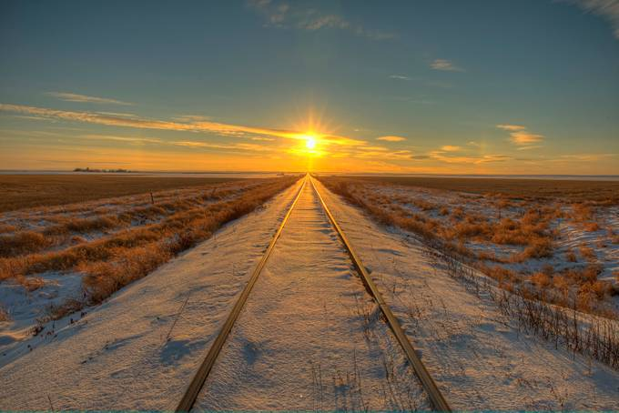 Sunset Tracks by RyanWunsch - Empty Railways Photo Contest