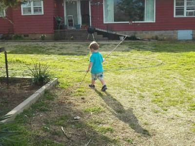 Nephew doing his thing