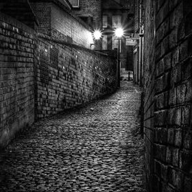 A rarely used and relatively unknown alleyway in Nottingham, dating back to medieval times.