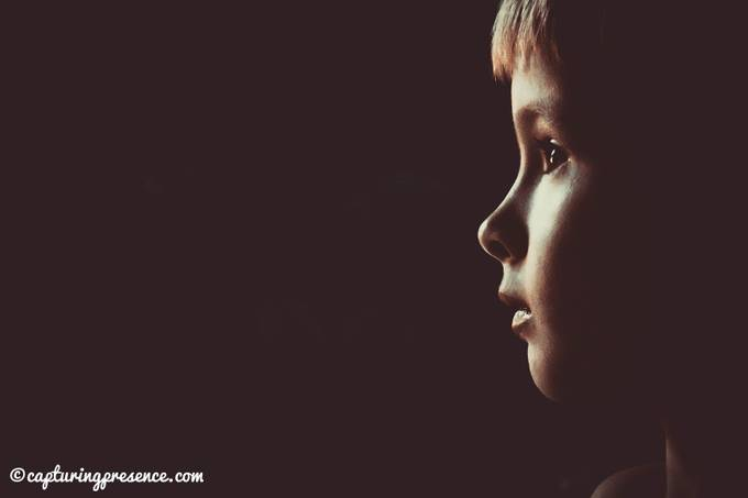 My son watching tv by danielireland - Dramatic Portraits Photo Contest