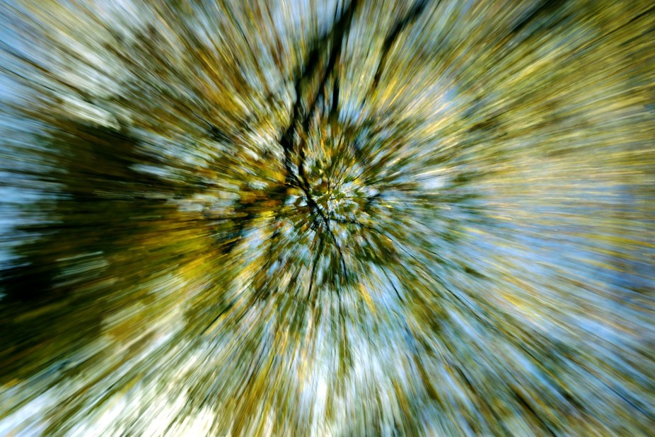A simple zoom burst with a slow shutter speed
