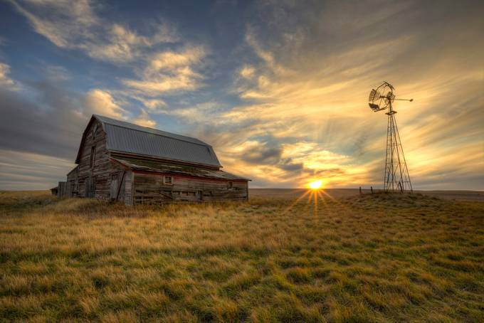 Sunset yard by RyanWunsch - Windmills Photo Contest