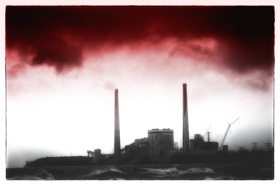 Smoke from a coal fired power plant