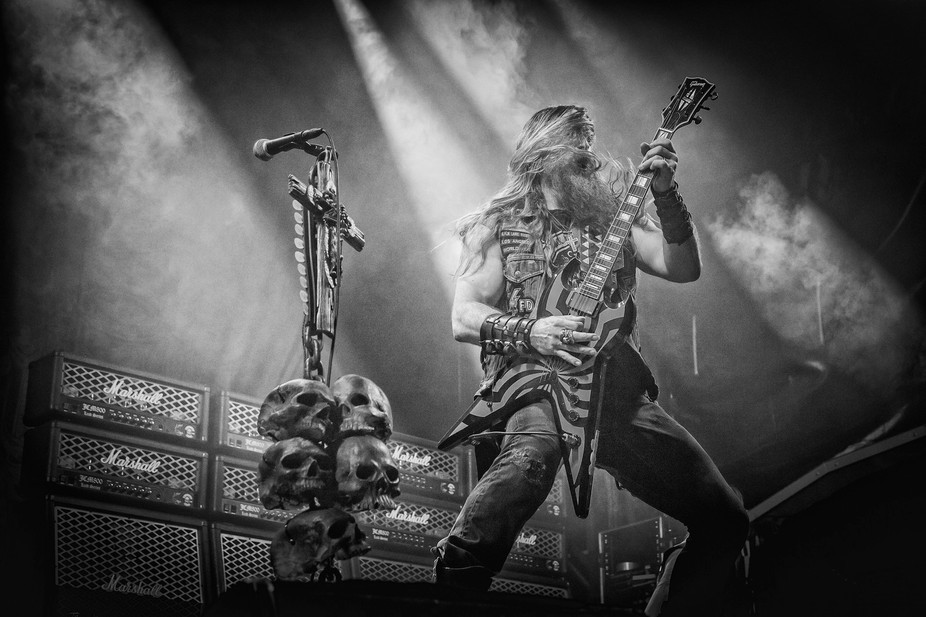 Black Label Society on stage at the 2014 Copenhell festival in Copenhagen. In the front Zakk Wyld...