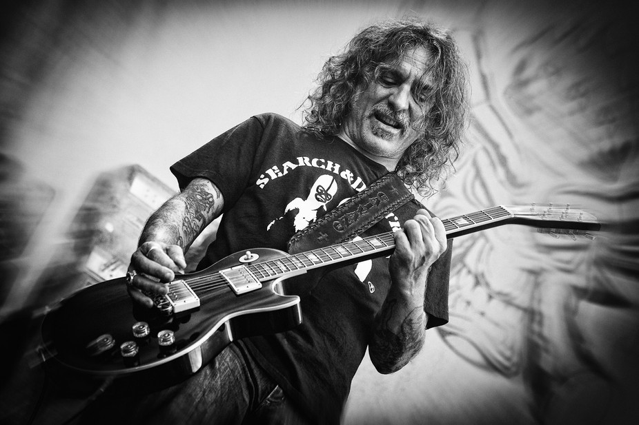 Phil Caivano, guitarist in Monster Magnet, on stage at the 2014 Copenhell metal festival in Copen...