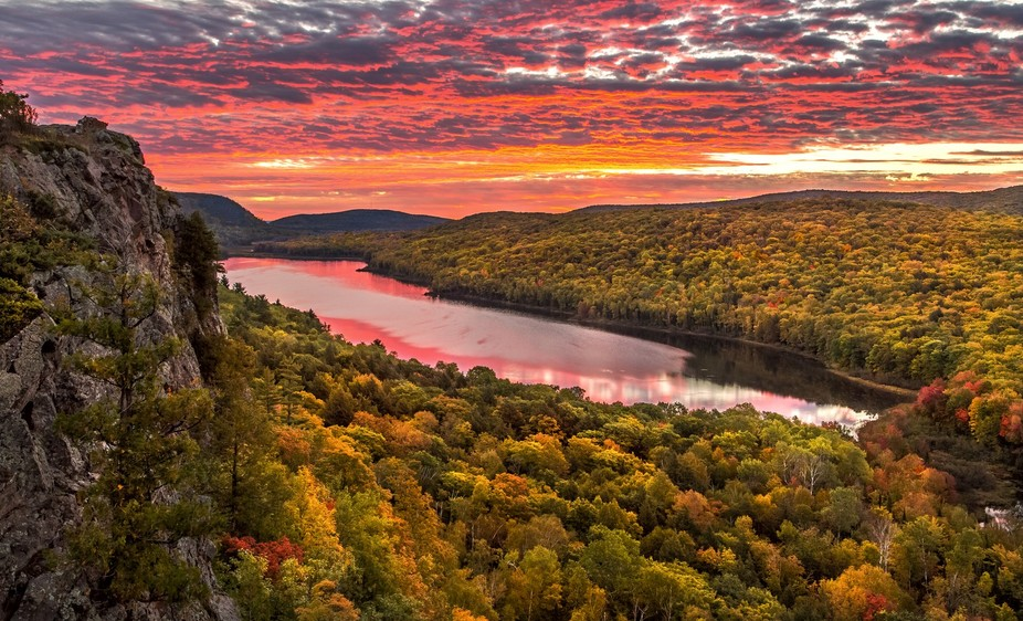 Lake of the Clouds located in the Porcupine Mountains Wilderness State Park in the Upper Peninsul...