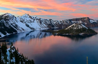 Sunset on Crater Lake