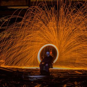 Long exposure steel wool session