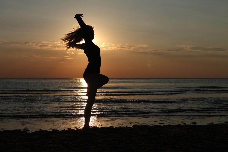 Dancing on the beach