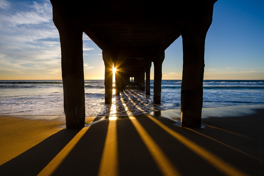 Sunset at the Manhattan Beach Pier.