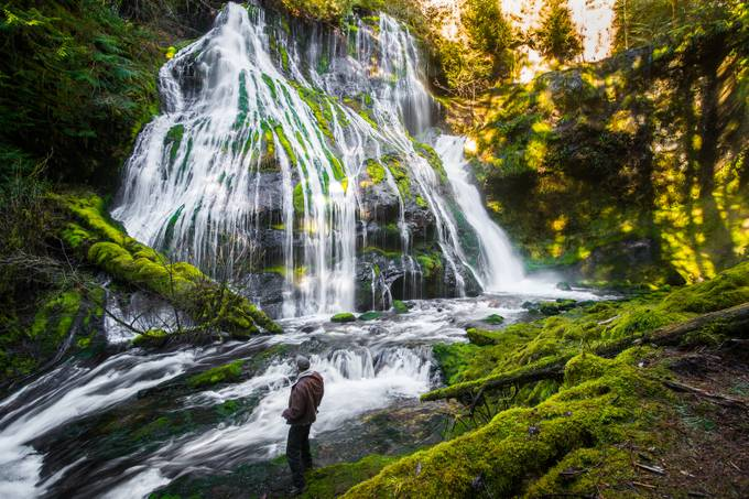Panther Creek Falls by gappman - People And Waterfalls Photo Contest