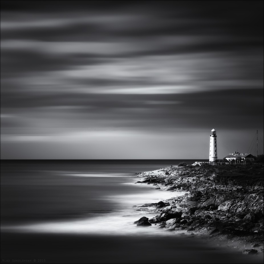 / Cape Khersones / by vladsokolovsky - The Water In Black And White Photo Contest