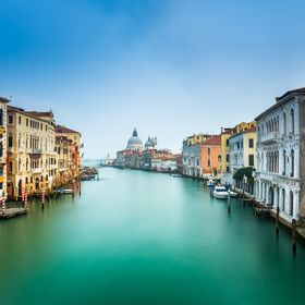 This photo was taken at Accademia Bridge, Venice looking towards Santa Maria Del Salute.  During my trip, I had planned to take a sunset shot for...