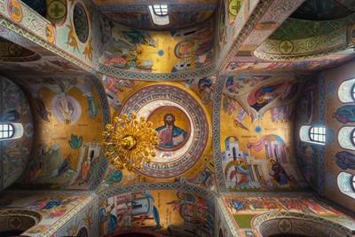 Church ceiling in Russia