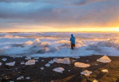 Iceland sunrise photo shot