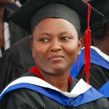 Ann graduating at PAC,Nairobi, Kenya