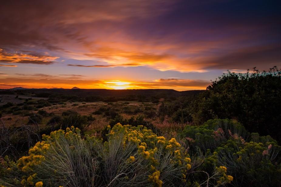 Sunset at Mesa Verde National Park, Colorado.