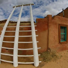 A dwelling at the Acoma Sky City Pueblo