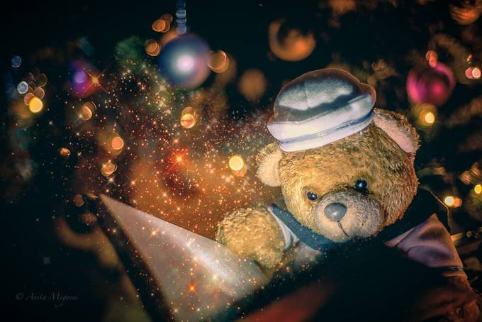 The Magical Christmas Tale of Edward Evan Bear III by anitamegyesi - Holiday Lights Photo Contest 2017
