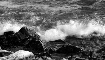 Pounding Waves on Lake Superior