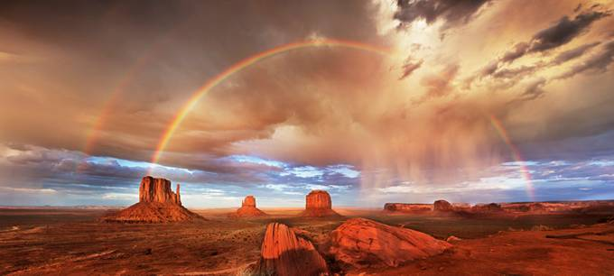Monument Valley Rainbow by frednewman - Rainbows Overhead Photo Contest