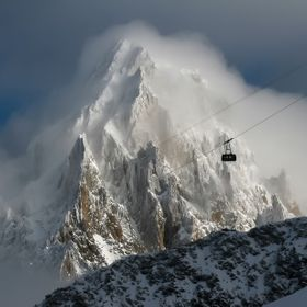 winter landscape in the French Alps. Chamonix
