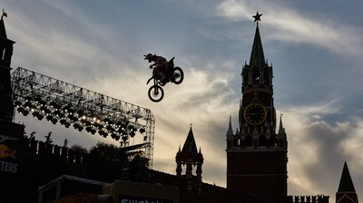 Red Bull X-Fighters on the Red Square in Moscow